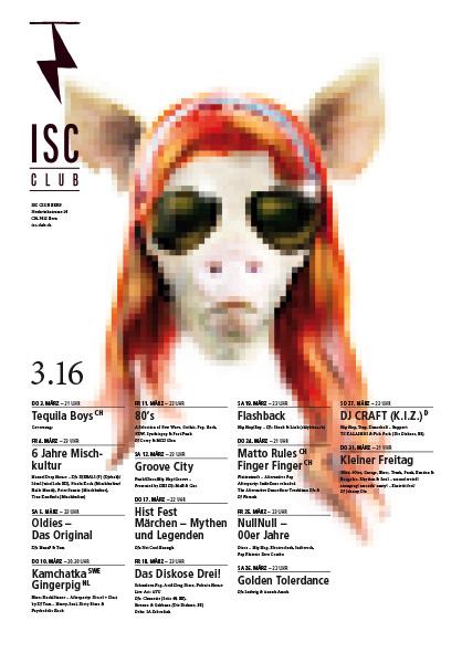 ISC-Plakatwettbewerb mit dem Sujet der Band Gingerpig