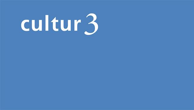 Fyler cultur3 Infoveranstaltung – Beitragsbild mit dem weissen Logo auf blauem Grund