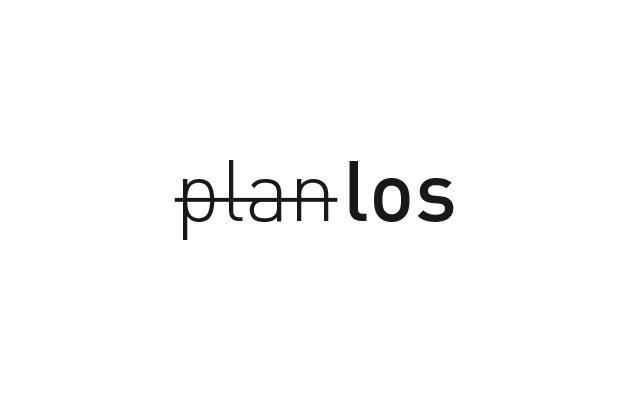 Logo Planlos – Entwurf A in Schwarz und Weiss