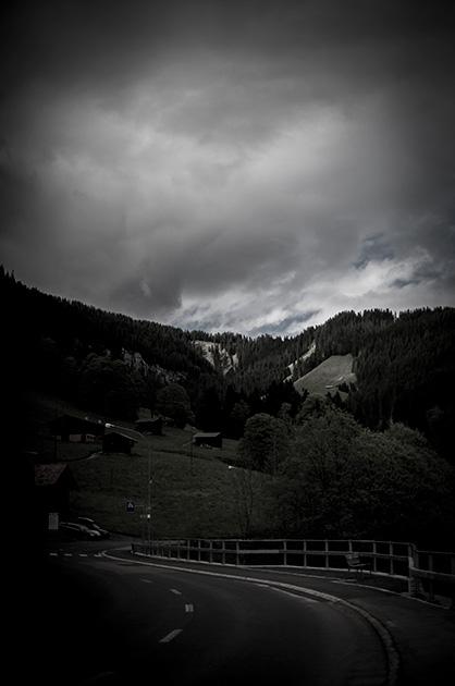 Beatenberg, hinterer Dorfteil kurz vor der Schreinerei Gafner