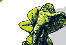 Illustration für planlos, Beitragsbid mit einem Elefantenkopf.