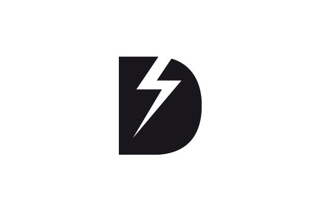 Age of Disclosure - Logo-Entwurf mit einem grossen «D» und einem Blitz