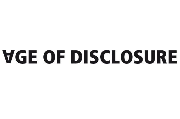 Age of Disclosure Logo-Entwurf als Schriftzug