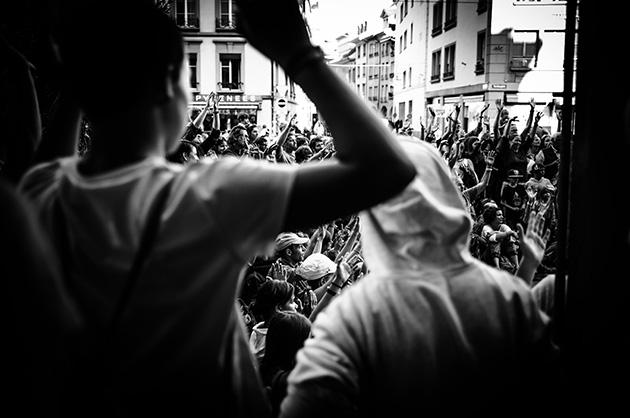 Zuschauer am Buskers in Bern