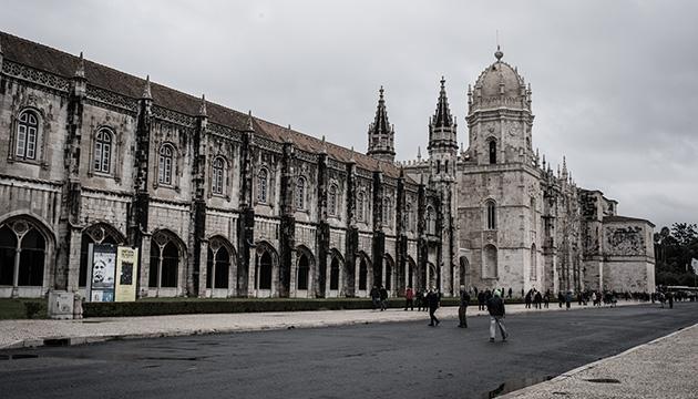 Das Hieronymitenkloster in Belém, Lissabon. Fotografie der Aussenfassade, Beitragsbild