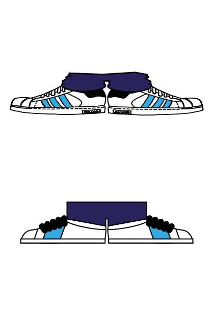 Illustration Avatare EQUALS – vorher-nachher-Vergleich mit Schuhen