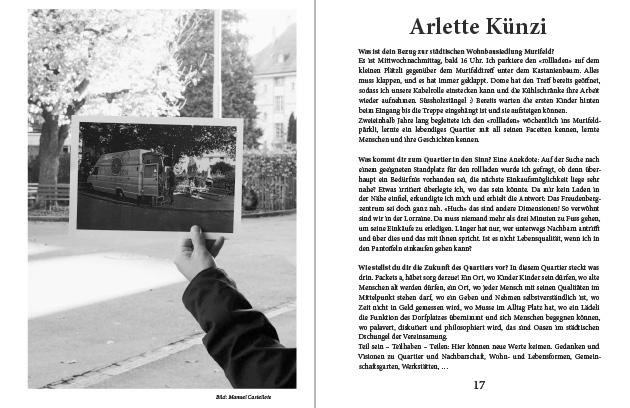 Doppelseite aus dem Murifeldbuch mit dem Beitrag von Arlette
