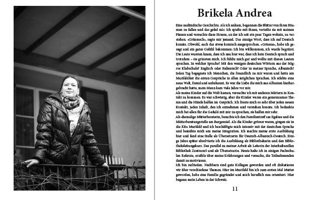 Doppelseite aus dem Murifeldbuch mit dem Beitrag von Brikela