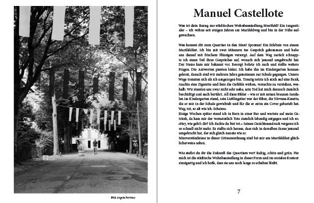 Doppelseite aus dem Murifeldbuch mit dem Beitrag von Manuel