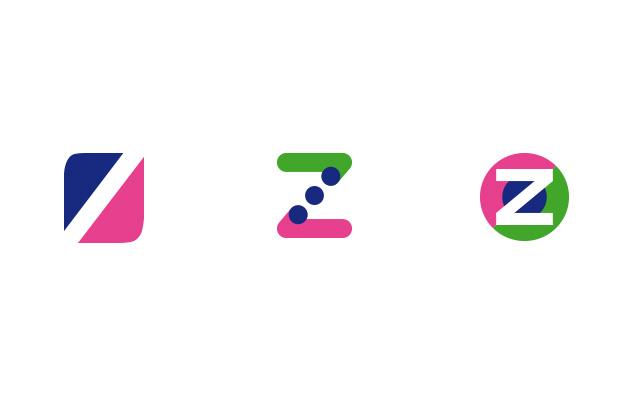 Logo Zeremonia, erste Runde mit neutralen Ansätzen