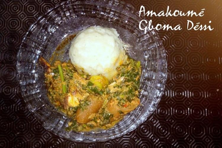 Sauce d'épinard ou « gboma dessi »