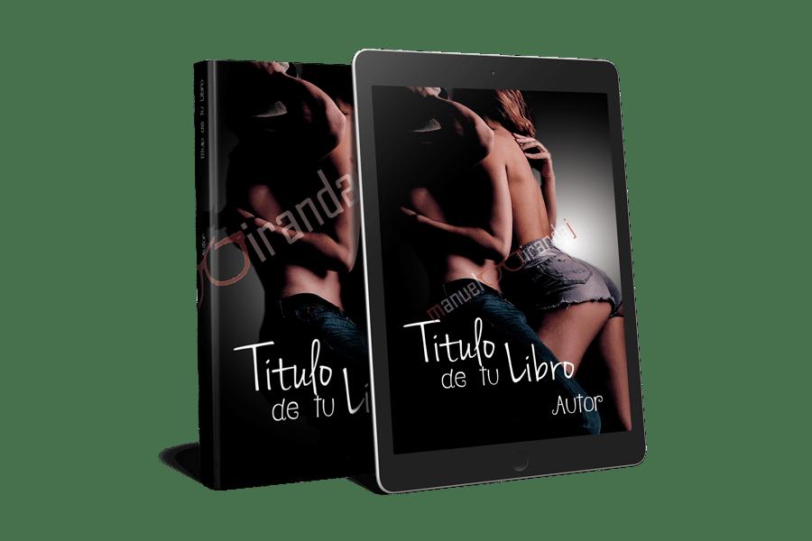portadas para libros y ebooks abrazados semi desnudos