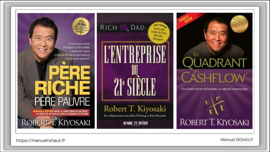 Robert Kiyosaki - Série de guides pour apprendre et atteindre la liberté financière - Père riche, père pauvre, le cadran du cashflow