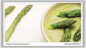 Recette Beautysané© : succulente crème d'asperges & volaille