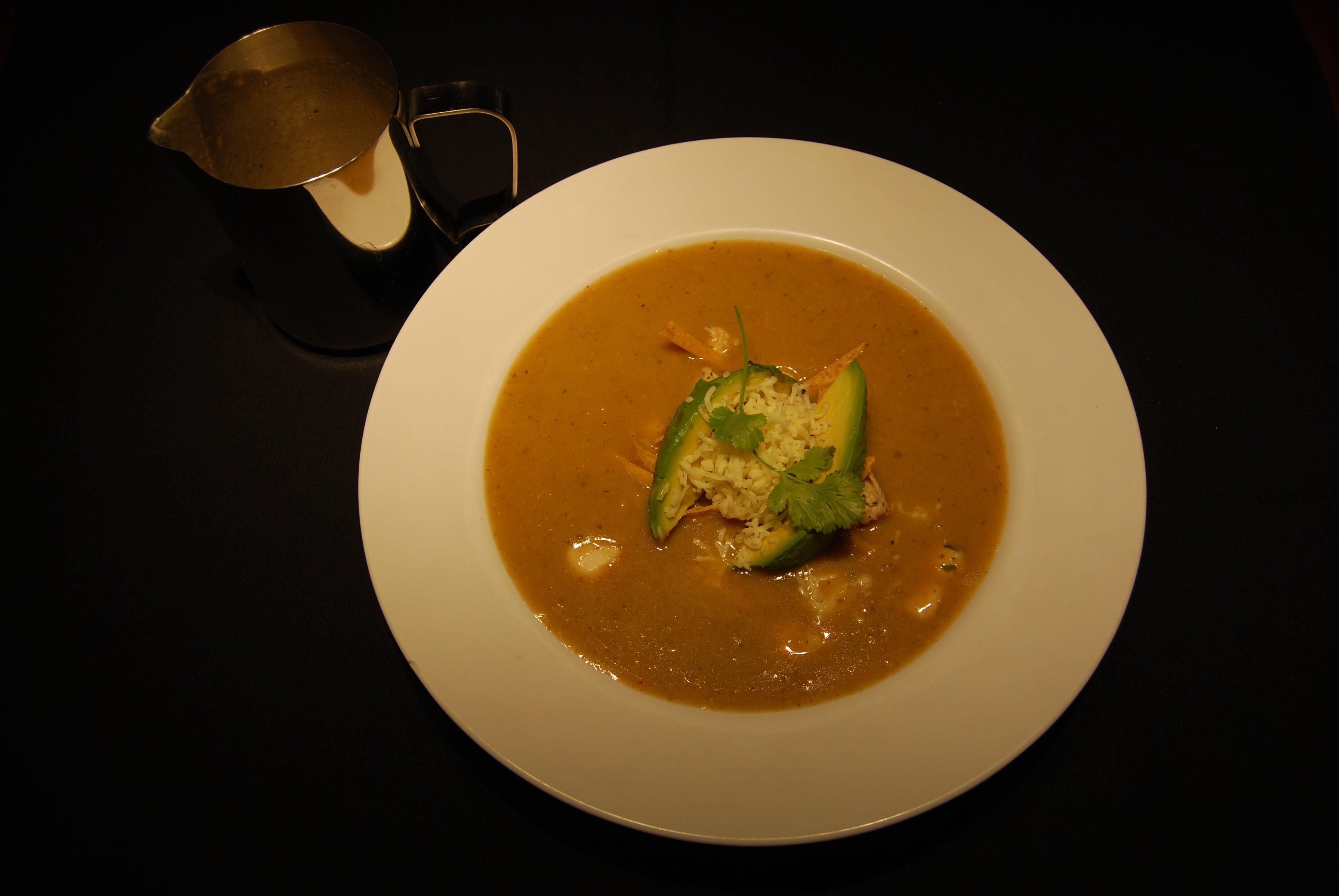 Tortilla Soup at table