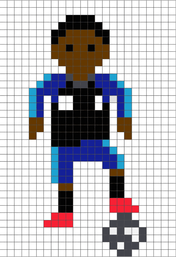 Pixel Art Logo Foot Paris