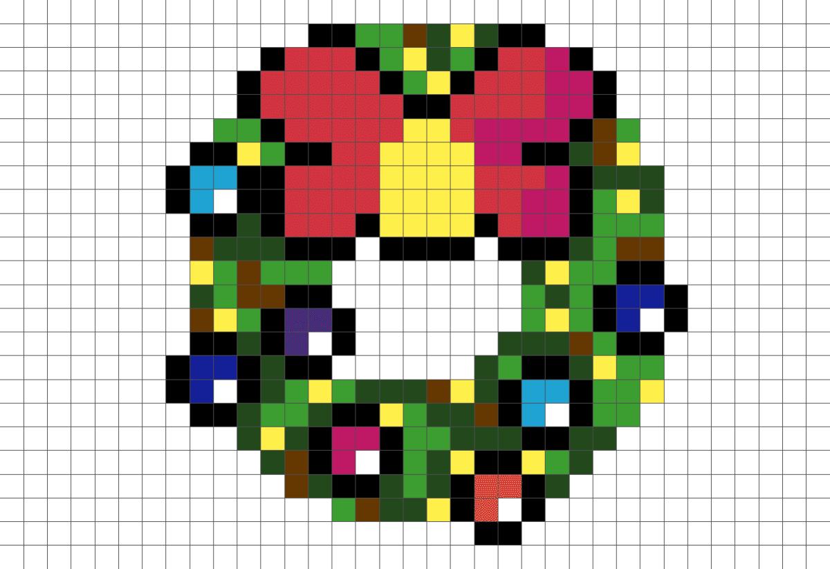 Pixel Art Etoile De Noel