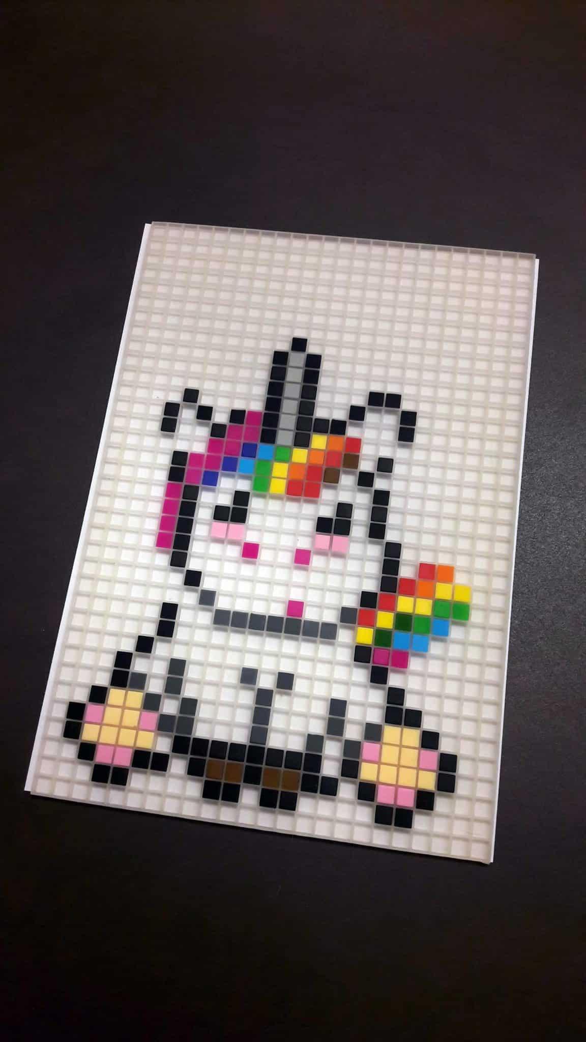 Modele Petit Pixel Art Licorne