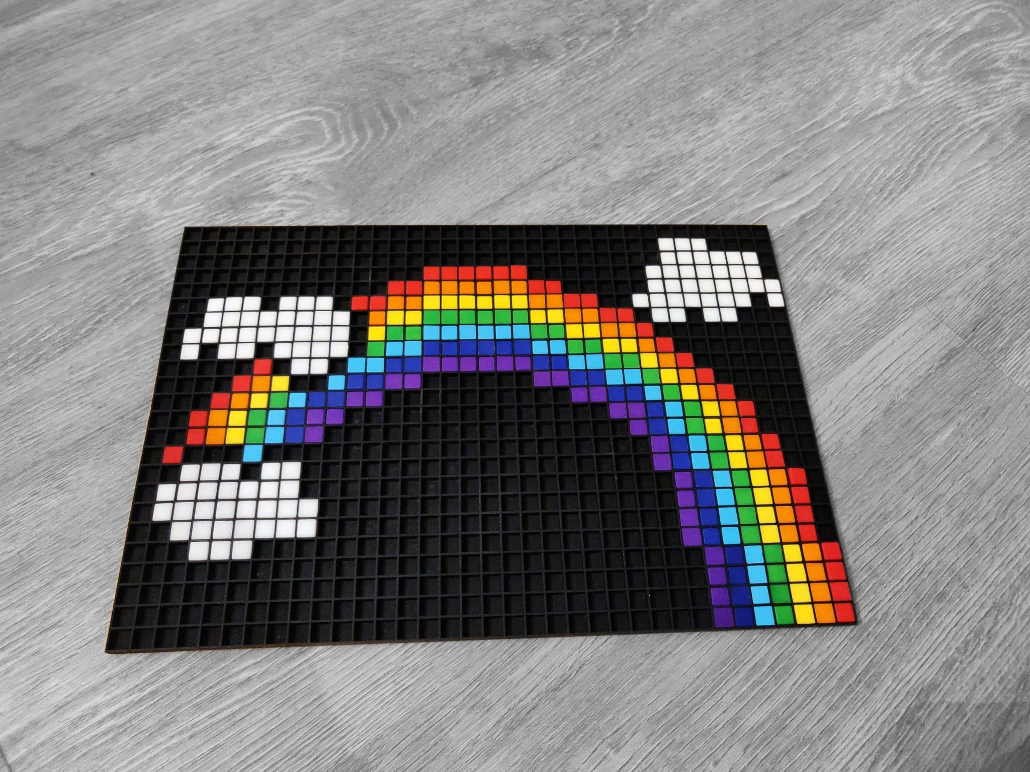 Pixel Art Arc En Ciel Gamboahinestrosa