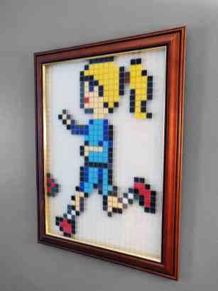 Footballeuse Amandine Henry Pixel Art mosaique photo