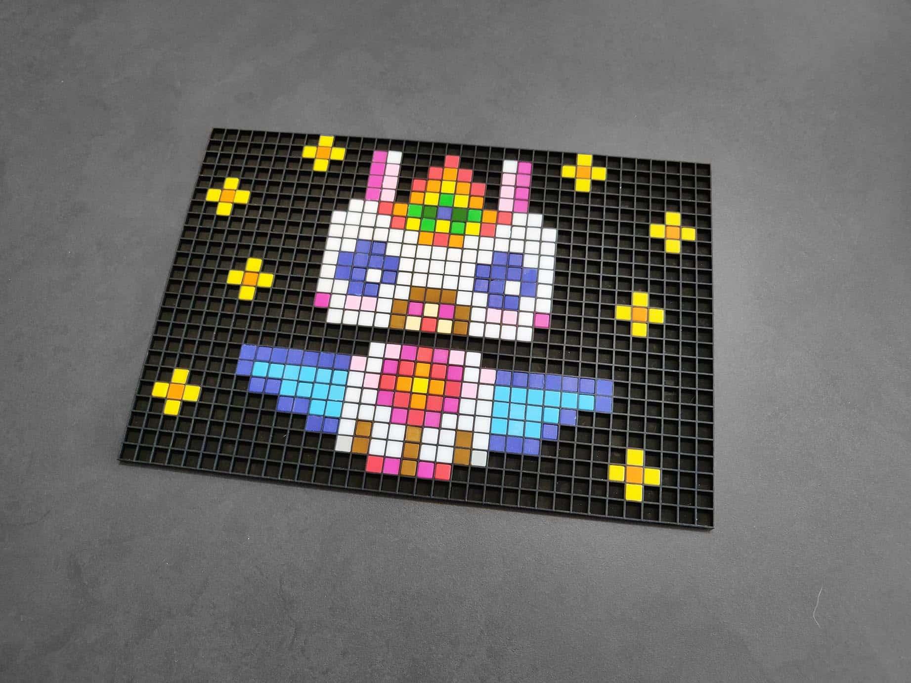 Dessin Licorne Pixel Art