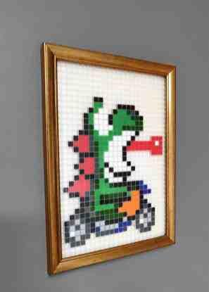 Yoshi Mario Kart pixel art photo2