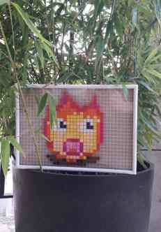 feu chaud pixel art photo