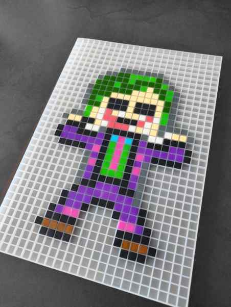 Joker Batman pixel art mosaique photo