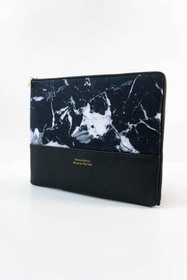 nachhaltige Ipadphuelle Ipad pro marble dark marmor handmade in germany 12 zoll manufaktur nicola marisa