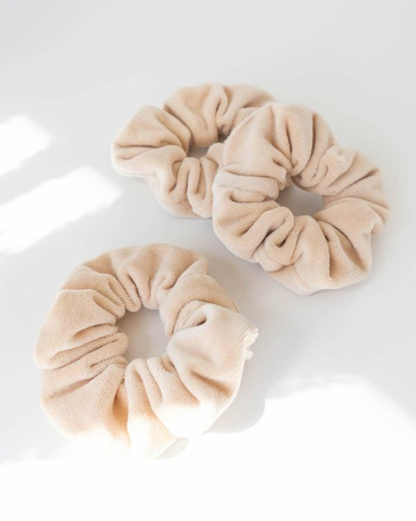 fairfashion Scrunchies Haargummis in Beige
