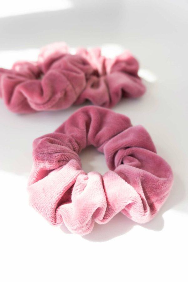 nachhaltiges Scrunchie Haargummi in Rosa