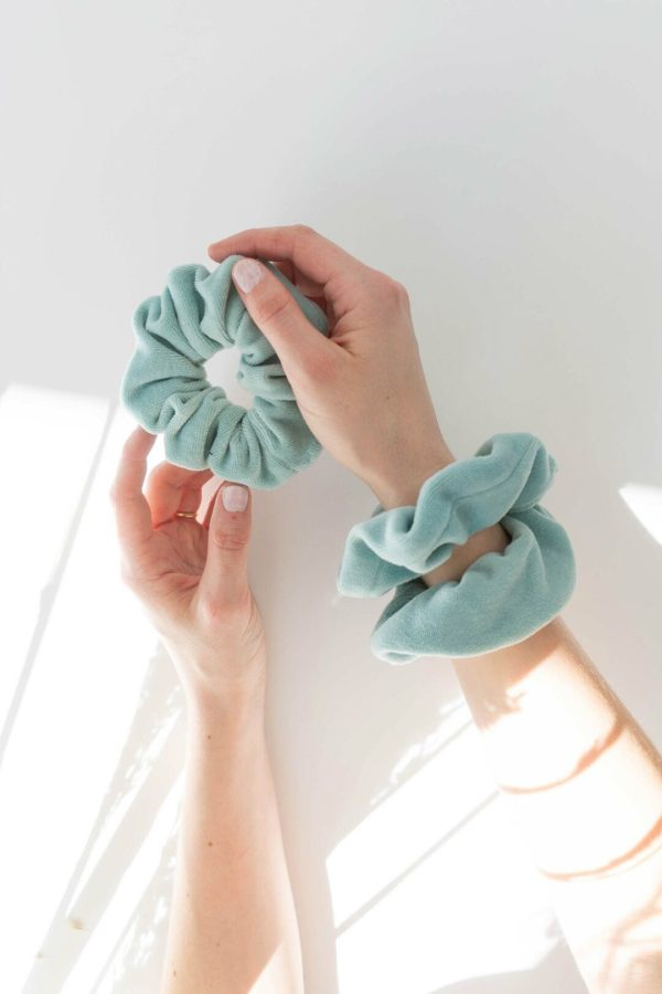 Biobaumwoll scrunchie handmade in Germany