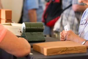 Manufakturen-Blog: Bilder vom 1. Brandenburger Manufakturentag - Stand Neue Ziegel-Manufaktur Glindow (Fotos: Deutsche Manufakturenstrasse)