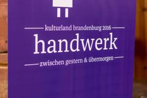 Manufakturen-Blog: Bilder vom 1. Brandenburger Manufakturentag - Logo des Mitorganisators Kulturland Brandenburg (Fotos: Deutsche Manufakturenstrasse)