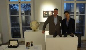 Manufakturen-Blog: Wigmar Bressel und Pascal Johanssen organisierten die Ausstellung im Direktorenhaus (Foto: Deha Uzbas)