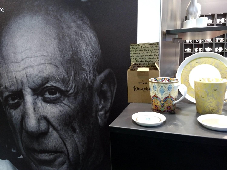 """Manufakturen-Blog: Weimar Porzellan nutzt Picasso, hat mit """"Wunderbar"""" aber auch eine andere luxuriöse Linie am Start (Foto: Wigmar Bressel)"""