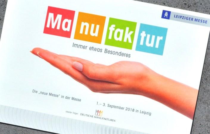 Manufakturen-Blog: die Einladung zur Herbst-CADEAUX Leipzig 2018 mit dem neuen Schwerpunkt 'Manufakturen' (Repro: Wigmar Bressel)