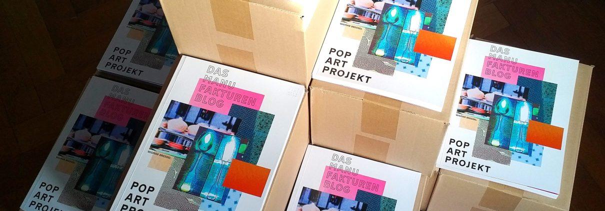 Manufakturen-Blog: Das Manufakturen-Blog-PopArt-Projekt auf Instagram erhielt jetzt einen eigenen Katalog mit einer Auswahl von 116 Werken - Manufakturprodukte, Produktionsstätten, während der Produktion, Historisches. (Foto: Wigmar Bressel)