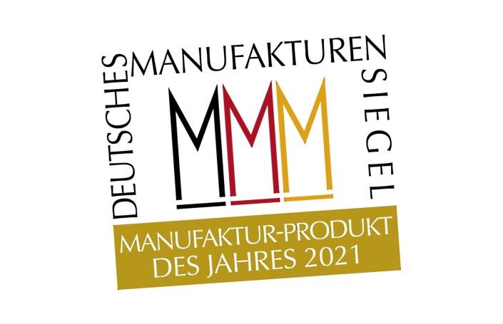Manufakturen-Blog: Siegel des Wettbewerbs zum 'Manufaktur-Produkt des Jahres 2021' (Grafik: Wigmar Bressel)