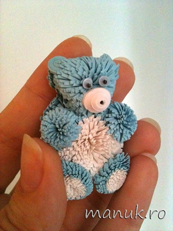 Take a Quill Pill Challenge 12: Quilling for Kids – Quilled Teddy Bear