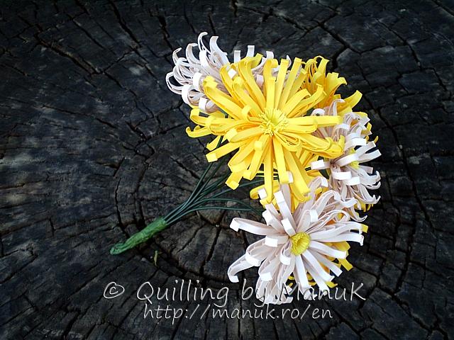Quilled Chrysanthemum Bouquet
