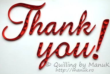"""Quilled """"Thank You!"""" Paper Graphic"""