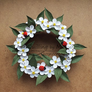 Quilled Apple Blossom Wreath