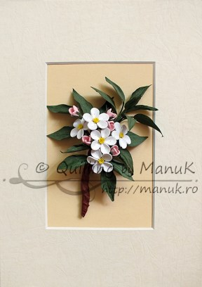 Quilled Apple Blossom Branch