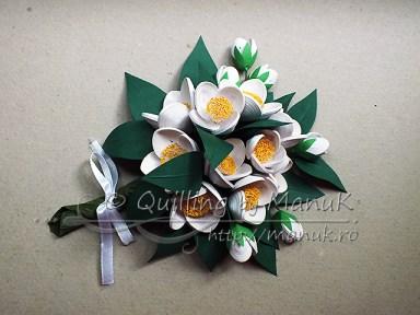 Quilled Jasmine Flowers Bouquet