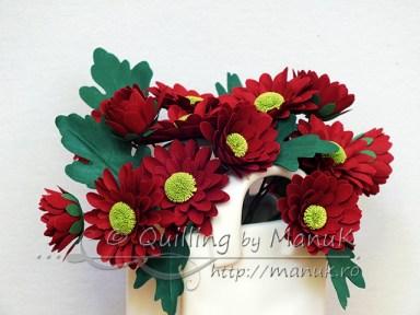 Paper Chrysanthemums - Detail