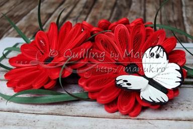 Quilled Gerbera Flowers - Detail