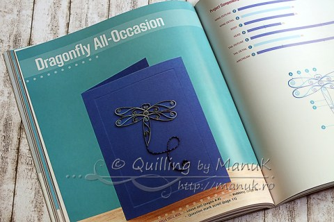 Pretty Quilled Cards - Dragonfly