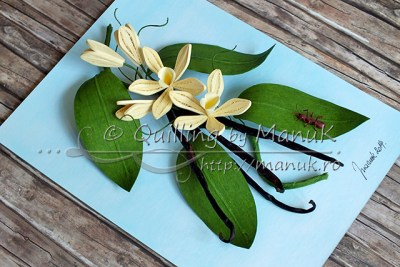 Quilled Vanilla Orchid - Side View