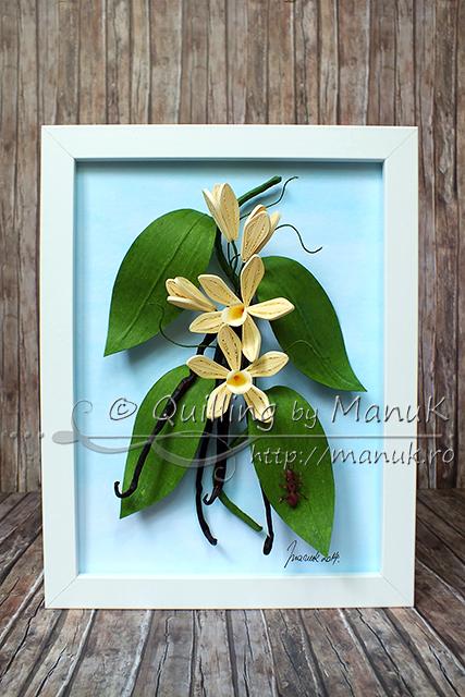 Quilled Vanilla Orchid (Vanilla Planifolia)